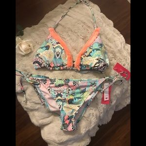 Multi Color Print Bikini by Xhiaration